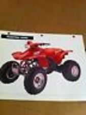 Specifications Features & Benifits Chart For The 1995 Honda Fourtrax 300EX