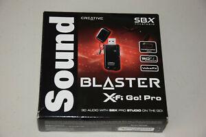 Creative Sound Blaster X-Fi Go Pro 70SB109500000 USB SBX SB1290 Audio Sound Card