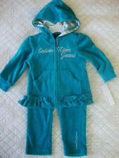 Calvin Klein Baby Girls' 2-Pc Ruffle Hoodie & Pants Set Blue Size 12 Months