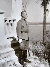 WW2 Japanese Army Soldier Uniform Katana Sword Original Photo