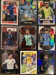 Soccer Card Lot Ronaldo, Weah (RC), Pulisic, World Cup Prizm, Suarez Jersey