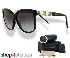 Bvlgari Serpenti Women Sunglasses Black_Serpent Enamel_Gradient Grey 8155 501/8G