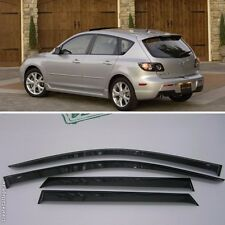 For Mazda 3 Hb 2004-2009 Window Visors Side Sun Rain Guard Vent Deflectors