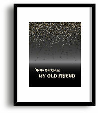 The Sound of Silence by Simon and Garfunkel - Abstract Song Lyric Art Print Gift