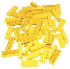LEGO LOT OF 50 YELLOW 2 X 6 DOT BUILDING BLOCKS BRICKS PIECES