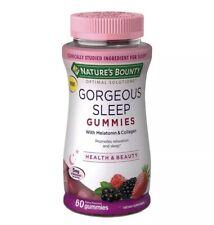 Nature's Bounty Gorgeous Sleep Gummies😴W. Melatonin & Collagen (EXP: 05/21)