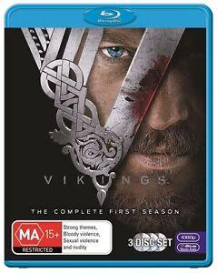 Vikings Season 1 (Blu-ray, 3-Disc Set) Series One BLU RAY - AUSTRALIA REGION B