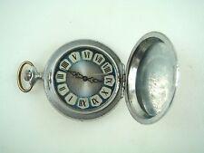 Vintage Russian Russia Pocket Watch Molnija Molnia Sometimes working Nr 7755