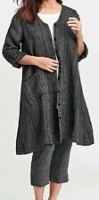 FLAX Designs  LINEN  DRESS   L     NWOT  Essential  Duster  CLEARANCE