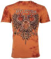 AFFLICTION Mens T-Shirt VALUE CHALKBOARD Eagle SPICE CRYSTAL WASH Biker $58