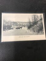 real photo postcard Birds Eye View Of Birtle Horses And Carriage  A1