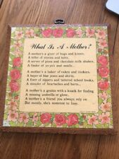 """""""what Is A Mother""""Vintage , WALL DECOR Mother's Day Great Gifts Ships N 24h"""