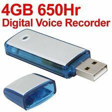 MINI DIGITAL VOICE RECORDER VOICE 4 GB USB KEY SH