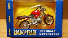 MAISTO Road & Track - 1/18 Scale Motorcycle Red BMW R1100R Diecast