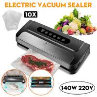 220V Commercial Vacuum Sealer Machine Seal Meal Saver Food System W/10 Free  Q
