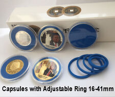 20 Acrylic Plastic Capsules Display Case W/ Ring For Silver American Eagle Coin