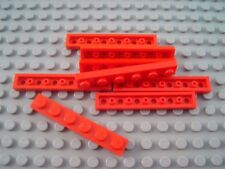 LEGO Lot of 2 Red 4x4 Double Airplane Roof Slope Hinge Pieces