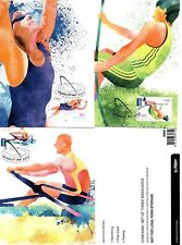 2012 LONDON OLYMPIC GAMES - 3 MAXI CARDS ON AUST. ATHLETS- 60c & INTERN.  STAMPS