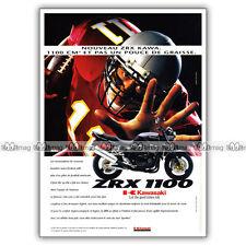 PUB KAWASAKI ZRX 1100 ZRX1100 & Football américain - Ad / Publicité Moto de 1997
