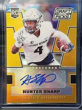 Hunter Sharp 2016 Panini Draft Picks Gold Autograph 2/10 Utah State