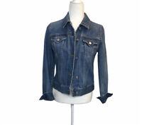 GAP Women's Jean Denim Jacket Medium Wash Buttons Adjustable Cotton Blue Small S