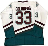 Goldberg #33 Green The Mighty Ducks Movie Ice Hockey Jersey Stitched