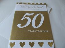 For My Husband On Our Golden Anniversary,,,,50 Years,,,,,, Greetings Card.
