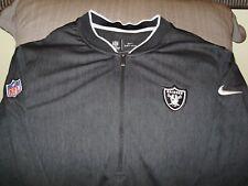 NFL Oakland Raiders Nike Dri-fit Black Coaches 1 2 Zip Golf Jacket Men s 857fa7951