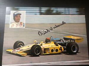 Bill Vukovich Signed Indy 500 Sugaripe Postcard