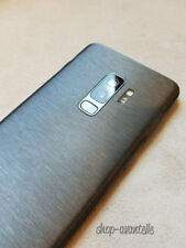 Samsung Galaxy S9 Plus (S9+) Decal Skin - Gunmetal Brushed Steel