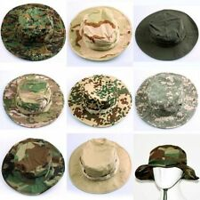 Camouflage Bucket Hat Boonie Hunting Fishing  Military Outdoor Cap UK Stock