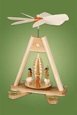 Pyramide de Noël table avec arbre 25 cm Monts Métallifères NEUF 85/389s