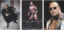 RARE! 2000 WWE WWF THE ROCK DWAYNE JOHNSON ROCK SOLID 3 CARD PROMO SET  P1,P2,P3