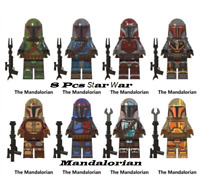Collection 8 pcs Minifigures Mandalorian Star War Baby Yoda Boba Fett Lego MOC