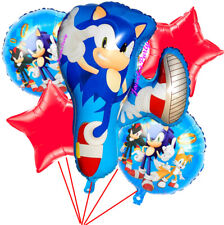 5PC SONIC HEDGEHOG BALLOONS VIDEO GAME PARTY BIRTHDAY SUPPLIES THEME DECORATIONS
