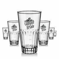 6 x Captain Morgan Glas Gläser 0,2l Acryl Design Abwaschbar Gastro Bar NEU