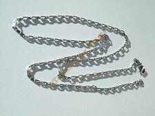 Chaine Collier Ras De Cou 60 cm Acier Inoxydable Maille Rectangle 2 mm Argenté