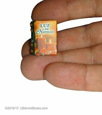 new miniature book Luz de Navidad set with stand perfect readable collectable