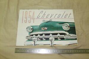 (MN1/Fbis) Brochure Catalogue 1954 CHEVROLET