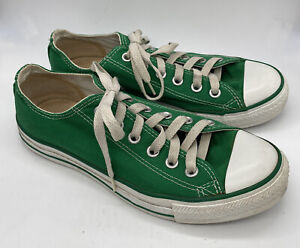 Converse All Star Mens Size 6 Womens Size 8 Dark Green Low Top Lace Up Sneakers