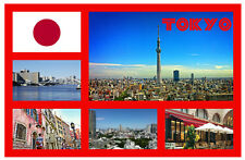 TOKYO, JAPAN - RECUERDO ORIGINAL IMÁN DE NEVERA - MONUMENTOS / CIUDADES