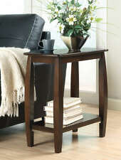 Walnut Finish Bowed Leg Chairside Accent End Table by Coaster 900994