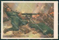Militari Granatieri Sardegna 9º Regg Medaglia Oro Grecia FG cartolina XF7305