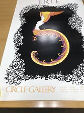 """VERY RARE NEW ERTÉ SUPERB Embossed  EMOTIONS : L'amour LOVE  SIGNED 24x36""""SALE"""