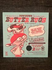 """THUD RUMBLE Baby BUTTER RUGS // 7"""" Slipmats // BLACK // Perfect for PT01 Scratch"""