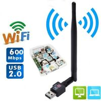 600M USB 2.0 Wifi Router Wireless Adapter Receiver Network Card For Computer TV