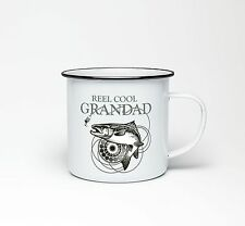 Reel Cool Grandad Mug Fishing Carp Angler Fly Fish Coffee Cup Tea Enamel Gift