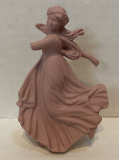 As Is Wedgwood Rare Christmas Pink Dancing Hours Ornament