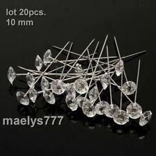 épingle broche tête diamant  bouquet de la mariée décoration mariage 20 pcs.