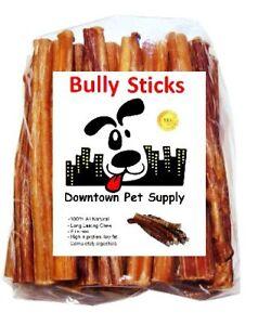 Best Free Range Bully Stick Great Training Dog Treats Low Odor USDA 6 in, 1/2 lb
